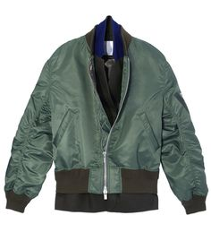 Sarai green layered jacket bomber jackets are in, seen very nice blue and red one's as well..