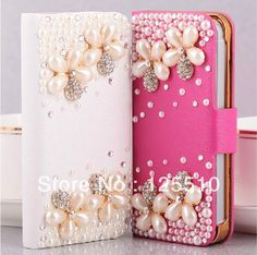 Aliexpress.com : Buy 2013 Fashion Luxury Pearl Diamonds Crystal Pearl Flower Ballet Girl Leather Case for iphone 5/5s handcrafted case from Reliable case for iphone 4g suppliers on Skytech Global Technology INC. $7.58