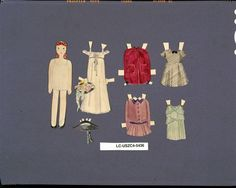 Ray's early paper dolls, from the Library of Congress collection.