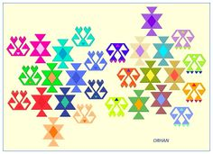 """A composition of Anatolian kilim motifs """"Hands on Hips and Star""""."""