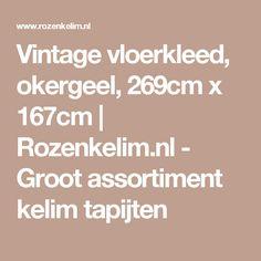Vintage vloerkleed, okergeel, 269cm x 167cm | Rozenkelim.nl - Groot assortiment kelim tapijten