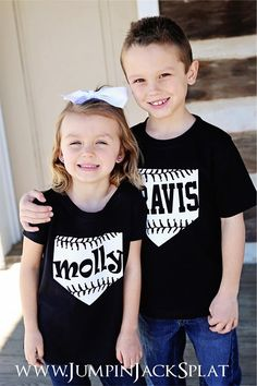 **PLEASE SEE SIZING BELOW BEFORE ORDERING - boy sizes run small**It's Baseball Season!! Grab your little one his/her own baseball tee to cheer on their favorite team :)Tees Available in Girly or Boy fit; navy, red, or black; printed with white lettering.Boy Tees are printed in ALL capital letters due to the font.Girly Tees can be printed in capital or lowercase, so please enter as desired!SIZING: Please see measurements!!  All brands of shirts run differently in sizing!  We highly recommend…