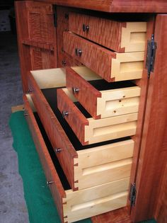 TOOL CHEST RED GUM AND HUON PINE - I love it, but using Huon for the sides of drawers is a crime!