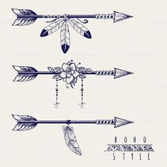 Boho style arrows feathers and flowers royalty-free boho style arrows feathers and flowers stock vector art & more images of abstract arrow tattoo Boho style arrows with feathers and flowers design. Boho Tattoos, Body Art Tattoos, New Tattoos, Small Tattoos, Sleeve Tattoos, Small Feather Tattoos, Small Arrow Tattoos, Tattoo Ink, Feather Arrow Tattoo