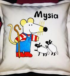Malowanie...ręcznie malowane poduszki i inne różności: Mysia,Mysia i przyjaciele-recznie malowane poduszk...