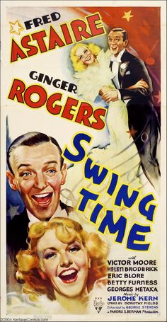 """Swing Time"", Ginger Rogers was the best dance partner Fred Astaire ever had. No other actress was able to recreate that magic with him on screen."