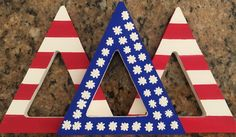 """""""Painted Greek Letters""""  #sorority #painted #letters #tridelta #little #gifts"""