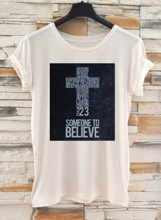 NEW COLLECTION Fashion Cross T-shirt / HandMade Oversize White T-Shirt / Casual top Eugoriashop