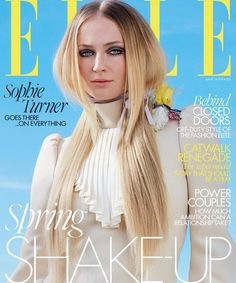 ''Game of Thrones'' star Sophie Turner wore all clothing and accessories from Louis Vuitton's Spring/Summer 2020 collection in both cover stories of Elle US and Sophie Turner, Uk Magazines, Elle Us, London Photographer, Elle Magazine, Magazine Covers, Diane Kruger, Claudia Schiffer, Professional Women