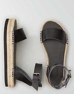 AEO Flatform Espadrille Sandal, Tan | American Eagle Outfitters