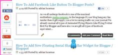 How To Add Floating Social Media Buttons With Cool Hover Effect For Wordpress And Blogspot - BLOGGER HEROE