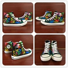 ec45ffdd8f34 ... Buy Wen Black Skate Shoes Canvas Multicolored Decoration Skull Coconut  Palm Tree Design Custom High Top Unisex Hand Painted Sneakers from Reliable  high ...