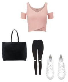 """""""School"""" by michy09 ❤ liked on Polyvore featuring Lipsy, Topshop and MANGO"""