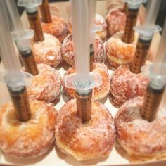 SnapWidget | Bistro Morgan's Salted Caramel Syringe doughnuts now available @oasisbakery along with Nutella Syringe and Chocolate and Berry! #yum #oasisbakery #bistromorgan #doughnut