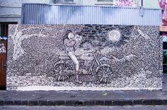 Loving this: #streetart  #handpainted by Malaysian #Artist # ShawnLu #creativeMelbourne