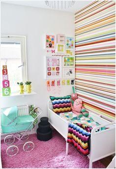 Great stripes for kids bedroom.