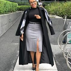 Fashionas_Iknowit (@fashionas_iknowit) • Instagram photos and videos Peplum Coat, Ankara Jackets, Work Attire, Chic Outfits, Work Outfits, Jacket Style, Leather Skirt, High Waisted Skirt, Feminine