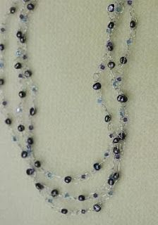 Learn to make your own Three Strand Wire Crochet Necklace with this easy DIY tutorial from Bead World: featuring Swarovski crystals, pearls and very basic crochet.