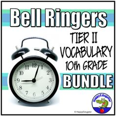 Bell Ringers Tier 2 Vocabulary in Context Bundle for Grade 10 Set 1 - 3. ELA TEST PREP. Tenth grade tier two vocabulary words set in context in informational paragraphs. Students should use context clues or contextual hints to figure out the meaning of unknown words. Includes all three sets. A vocab...