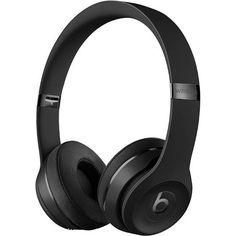 Beats Solo 3 Wireless Headphones (Matte Black only) Cute Headphones, Bluetooth Headphones, Over Ear Headphones, Wireless Headset, Beats Solo 3, Black Beats, Beats By Dre, Amazon Deals, Matte Black