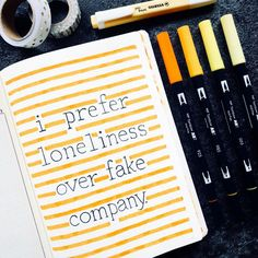 I prefer loneliness over fake company What about you? i – Graphic Work Bullet Journal Quotes, Bullet Journal 2020, Bullet Journal Notebook, Bullet Journal Aesthetic, Bullet Journal Ideas Pages, My Journal, Bullet Journal Inspiration, Journal Pages, Hand Drawn Font