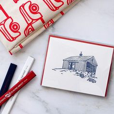 Nothing says 'I love you' like sending a hand written note. We love this Country Living barn boxed set of sweet notecards. Timeless and perfect for any season!