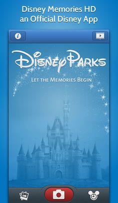 Disney Memories App ... Add Disney characters, frames, filters, and stickers to your photos.