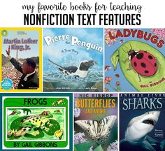 Books to Teach Nonfiction Text Features - Thank God It's First Grade!