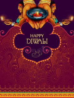Illustration about Easy to edit vector illustration of lady holding decorated diya for Happy Diwali holiday background. Illustration of diwali, diya, illustration - 129054509