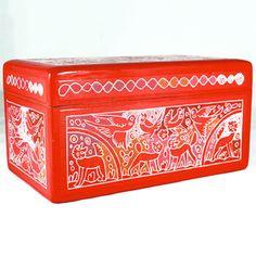 Olinalá Box Orange I, $72, now featured on Fab.