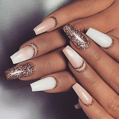 A manicure is a cosmetic elegance therapy for the finger nails and hands. A manicure could deal with just the hands, just the nails, or Gorgeous Nails, Love Nails, How To Do Nails, Pretty Nails, Amazing Nails, Cute Nail Designs, Acrylic Nail Designs, Glitter Nail Designs, Gel Polish Designs