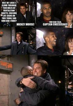 Captain Jack and Mickey