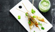 Kyllingespyd med grøn chili-thaisauce