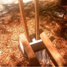 How to build a firewood rack using no tools.