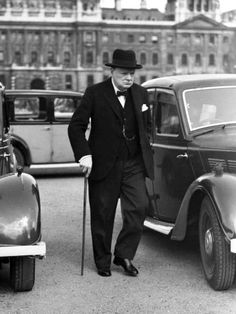 WWII England Winston Churchill Photographic Print by Anonymous from AllPosters.com
