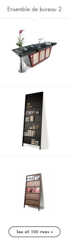 """Ensemble de bureau 2"" by ilona2010 ❤ liked on Polyvore featuring home, home decor, furniture, casa, fall home decor, autumn home decor, moooi, storage & shelves, bookcases and lacquer furniture"