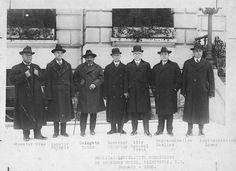 Prince Jonah Kūhiō Kalaniana'ole Pi'ikoi(1871–1922) (third from left). Hawai'i Legislative Commission, Washington D.C. 1920.
