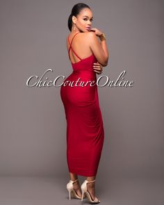 Chic Couture Online - Moryn Wine Red Draped Front Dress.(http://www.chiccoutureonline.com/moryn-wine-red-draped-front-dress/)