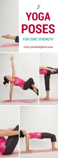 Five of my favorite yoga poses for core strength.