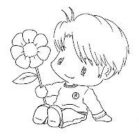 Cute  little digi stamp for card making. She has some really cute stamps for those of you who are into card making