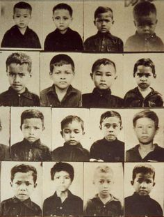 Children who disappeared and were likely murdered at the Khmer Rouge prison S-21.   © Tuol Sleng Museum of Genocide