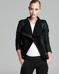 Covet covet covet Mackage Jacket - Armada Leather Wool Collar   Bloomingdale's