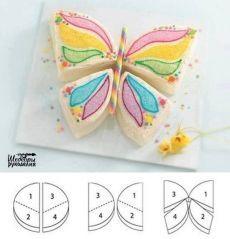Vágjuk a torta torta formájában egy pillangó / Design mindenkinek!