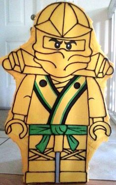 Amazing Gold Block Ninja guy pinata by Pinatadepot on Etsy