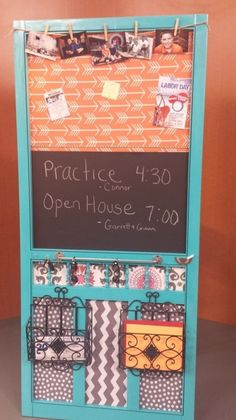 A To-Do Board! take a screen door and re-do it for an inside note board...like right by the back door!