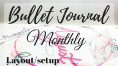 Bullet Journal | Monthly Layout/Setup [CC]