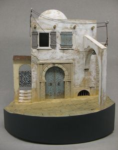 Here are some examples of masters I made for my own use in vignettes or diorama´s. Diy Nativity, Christmas Nativity, Vitrine Miniature, Miniature Houses, Fairy House Crafts, Girls Dollhouse, Cement Art, Mini Fairy Garden, Military Diorama