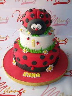 Button Cake, Bug Cake, Biscuit, Ladybug Party, Birthday Cake, Birthday Parties, Childrens Party, Amazing Cakes, Cake Decorating