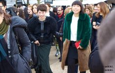 Vogue China's Editor in Chief, Angelica Cheung snapped by Electric sekki. at Valentino