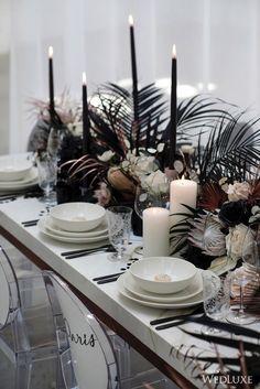 Modern minimalist wedding table decor #modernwedding #weddingdecor #minimalistwedding